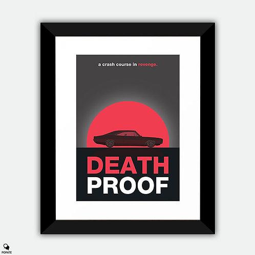Death Proof Minimalist Framed Print #2