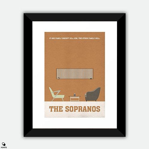 The Sopranos Minimalist Framed Print - Dr. Melfi's Office