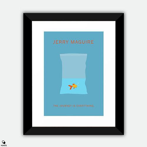 Jerry Maguire Minimalist Framed Print