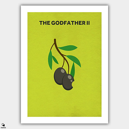The Godfather II Minimalist Poster - Olive