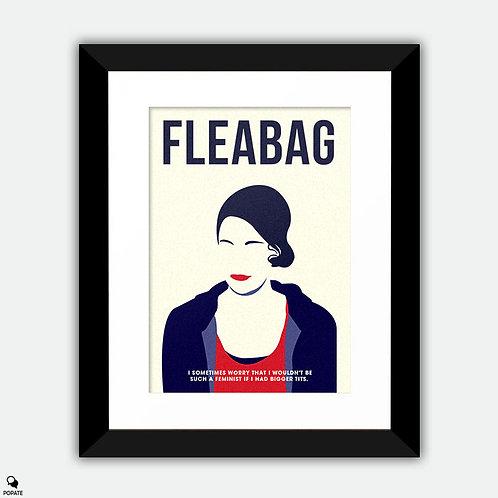 Fleabag Minimalist Framed Print - Feminist