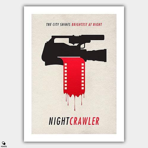 Nightcrawler Minimalist Poster - If It Bleeds, It Leads