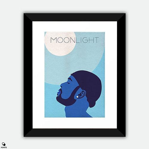 Moonlight Vector Minimal Alternative Framed Print