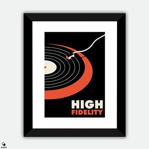High Fidelity Minimalist Framed Print