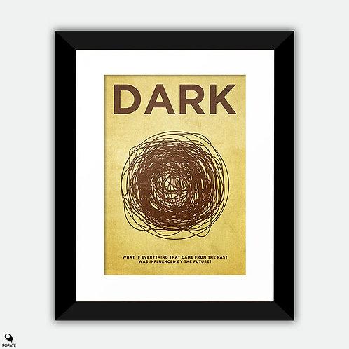 Dark Vintage Framed Print - Black Hole