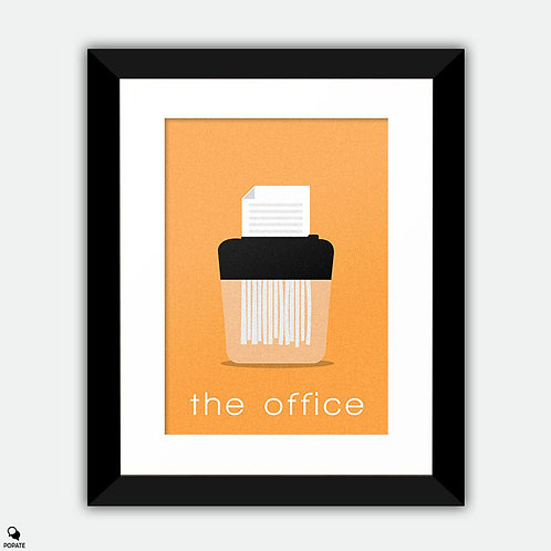 The Office Minimalist Framed Print - Paper Shredder