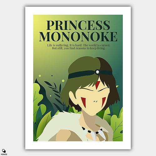 Princess Mononoke Minimalist Poster