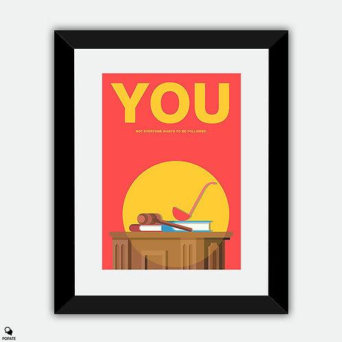 You Minimalist Framed Print