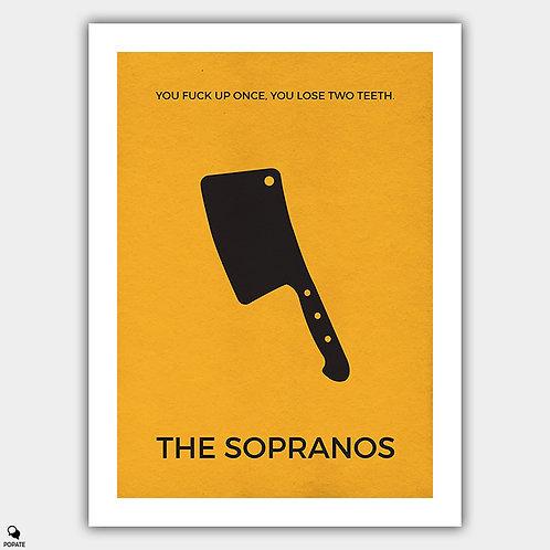 The Sopranos Minimalist Poster - Cleaver