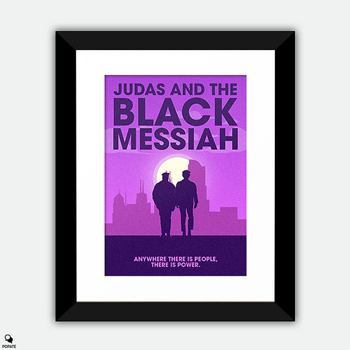 Judas and the Black Messiah Minimalist Framed Print