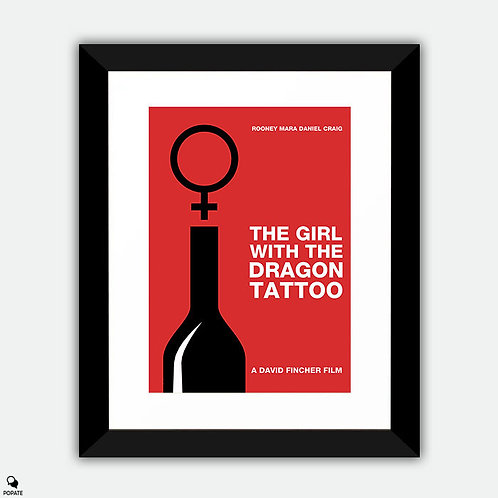 The Girl With The Dragon Tattoo Minimalist Framed Print