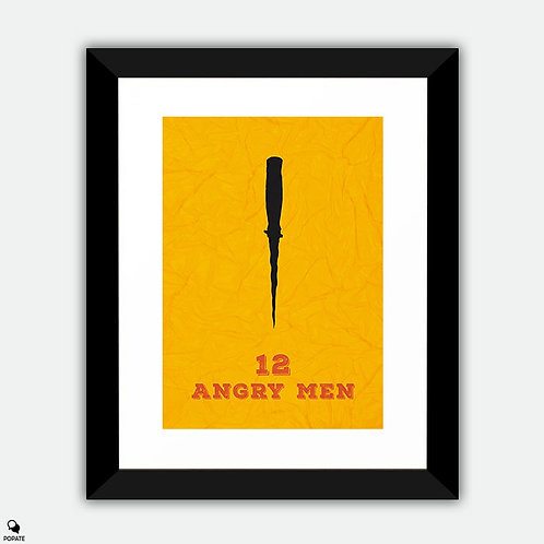 12 Angry Men Minimalist Framed Print - Knife