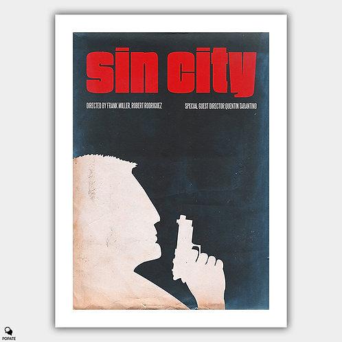 Sin City Vintage Minimalist Poster