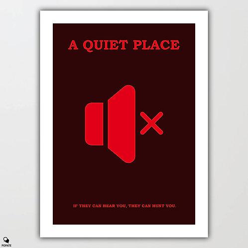 A Quiet Place Minimalist Poster