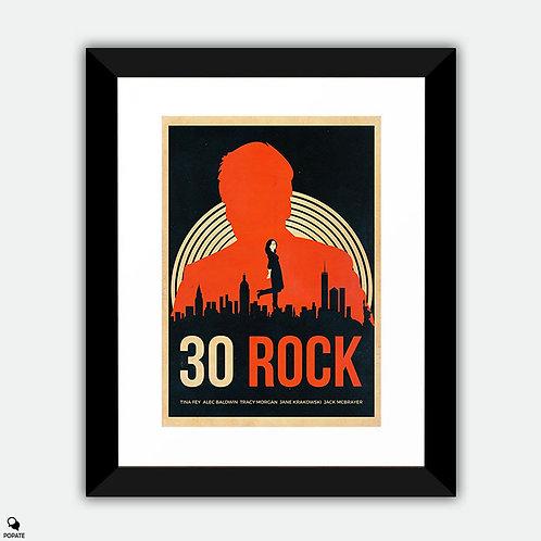 30 Rock Alternative Vintage Framed Print
