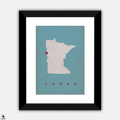 Fargo Vintage Framed Print