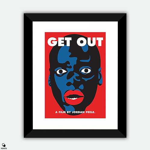 Get Out Alternative Framed Print - Blackface