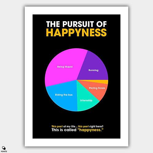 The Pursuit of Happyness Minimalist Poster - Parts