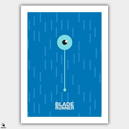 Blade Runner Minimalist Poster - Tears In The Rain