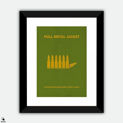 Full Metal Jacket Minimalist Framed Print - Bullets