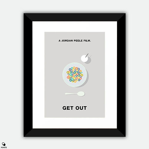 Get Out Minimalist Framed Print - Milk and Cereal