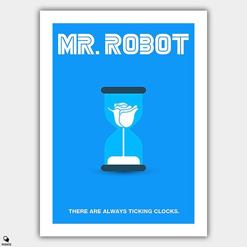 Mr. Robot Minimalist Poster - Whiterose