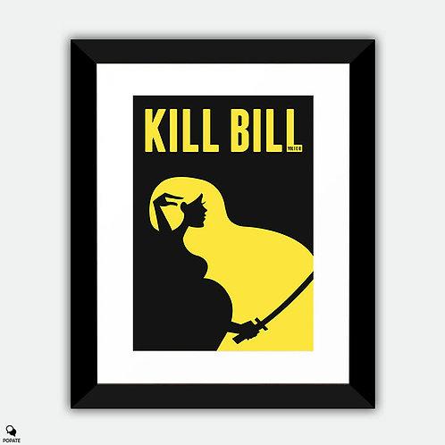 Kill Bill Minimalist Framed Print - The Whole Bloody Affair