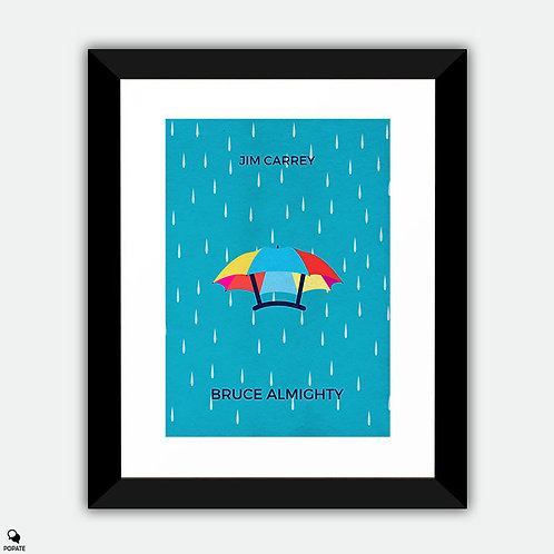 Bruce Almighty Minimalist Framed Print