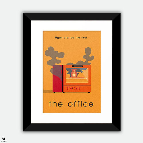 The Office Minimalist Framed Print - Ryan Started the Fire