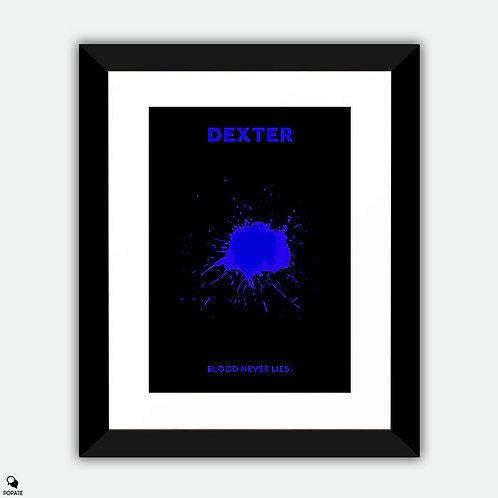 Dexter Minimalist Framed Print - Luminol