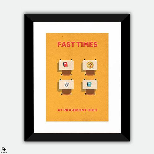 Fast Times At Ridgemont High Minimalist Framed Print