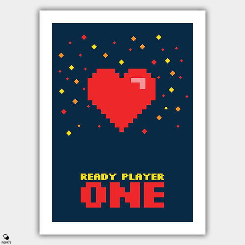 Ready Player One Minimalist Poster - Extra Life
