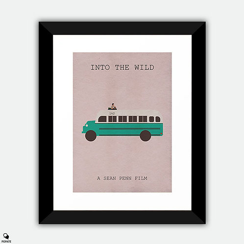 Into The Wild Minimalist Poster Framed Print