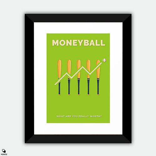 Moneyball Minimalist Framed Print