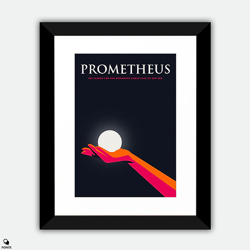 Prometheus Minimalist Framed Print - Fire