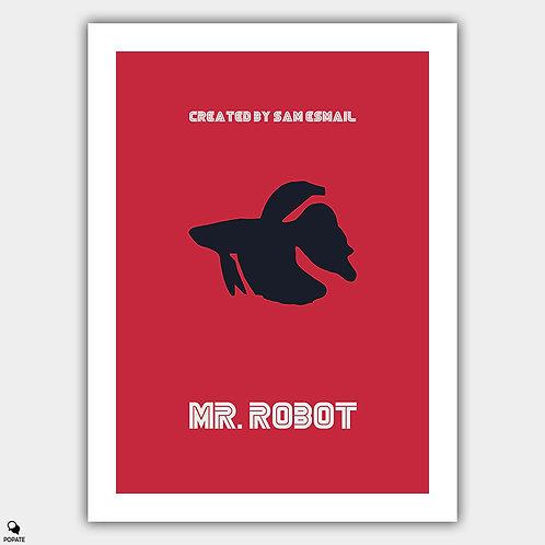 Mr. Robot Minimalist Poster - qwerty