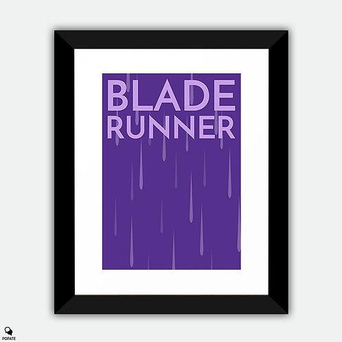 Blade Runner Minimalist Framed Print - Rain