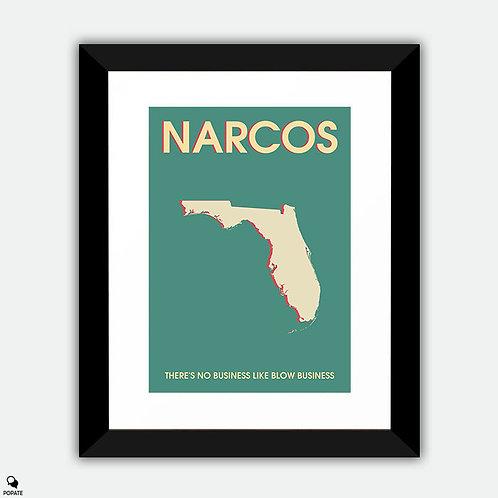Narcos Minimalist Framed Print
