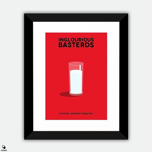 Inglourious Basterds Minimalist Framed Print - Milk