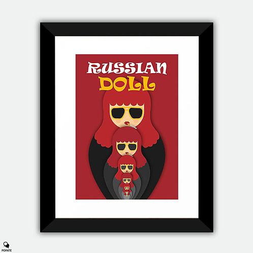 Russian Doll Minimalist Framed Print - Nested Iterations