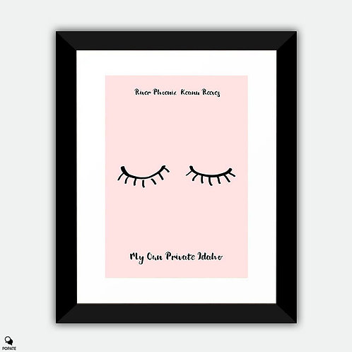 My Own Private Idaho Minimalist Framed Print