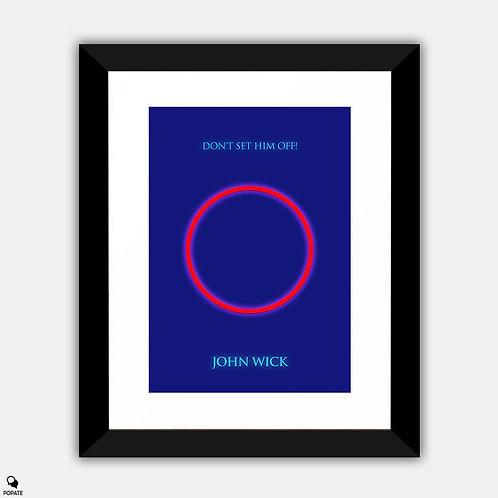 John Wick Minimalist Framed Print - Red Circle