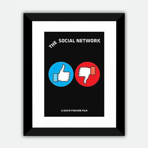 The Social Network Alternative Minimalist Framed Print