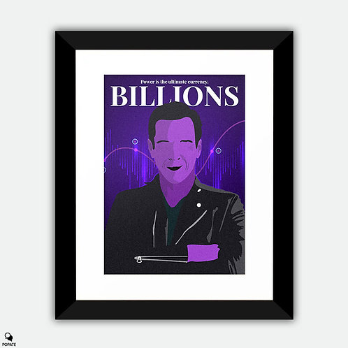 Billions Minimalist Framed Print - Axelrod