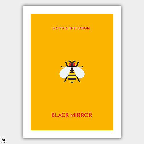 Black Mirror Minimalist Poster - Hated in the Nation