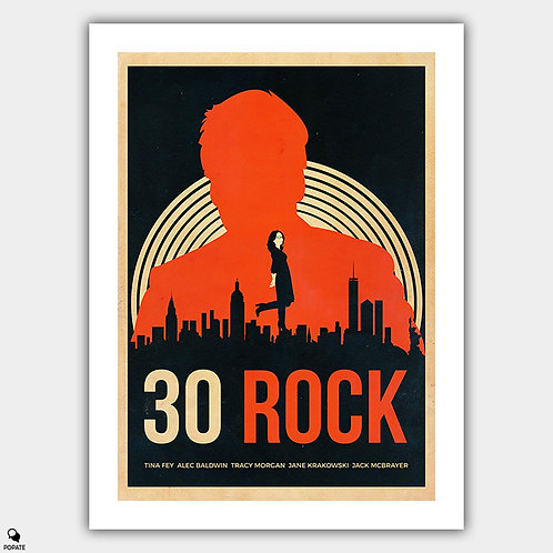 30 Rock Alternative Vintage Poster