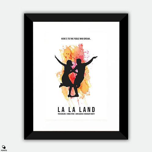 La La Land Minimalist Framed Print - Fools Who Dream