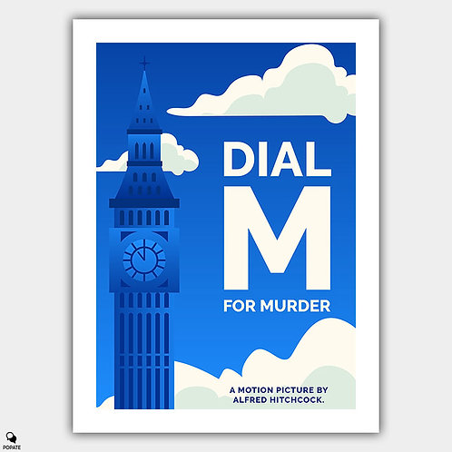 Dial M for Murder Minimalist Poster