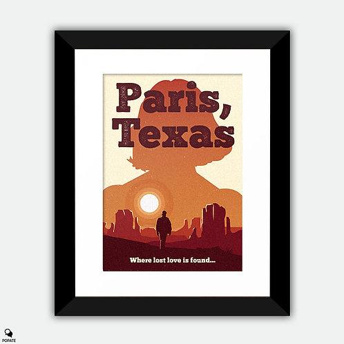 Paris, Texas Vintage Alternative Framed Print