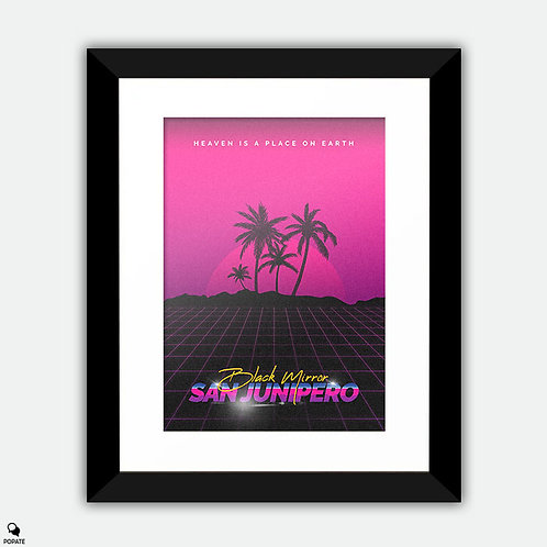 Black Mirror San Junipero Retro style Alternative Framed Print
